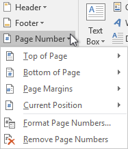 insert page number
